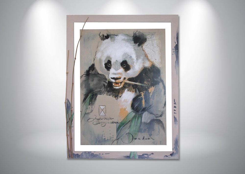 encadrement-aquarelle-panda