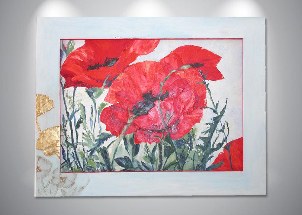 peinture-acrylique-coquelicots