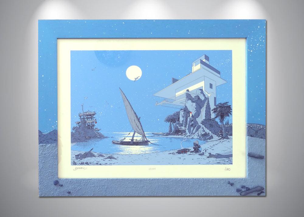 serigraphie-bertail-flao-bleu-enfant-sur-plage
