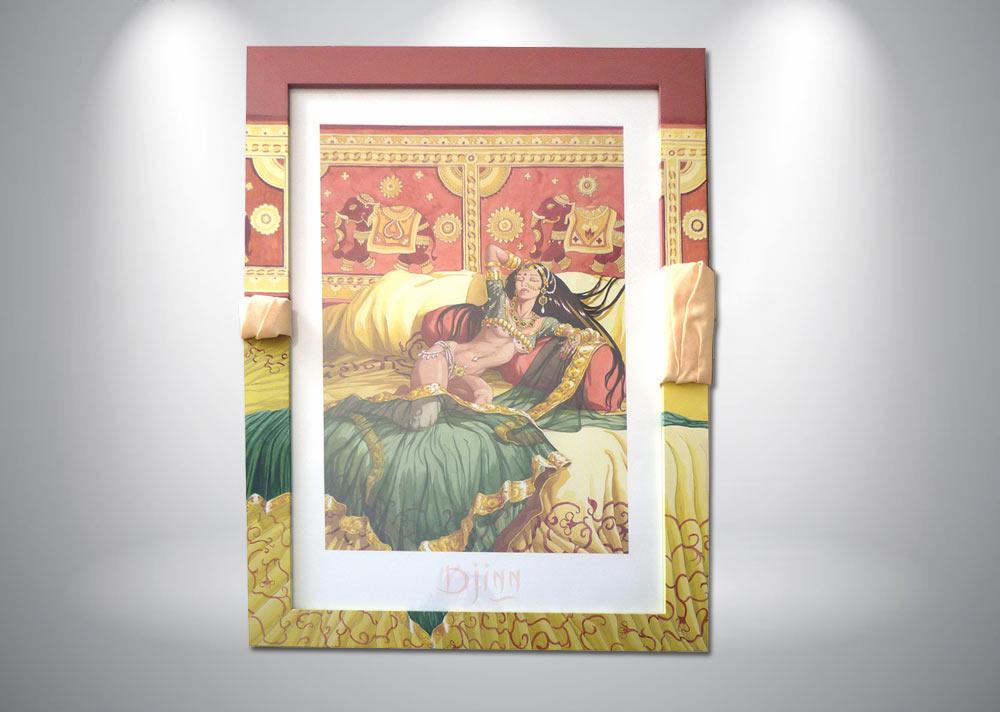 serigraphie-miralles-djinn-tresor-lit-femme-nue