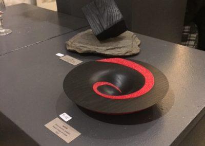 spirale noir et rouge