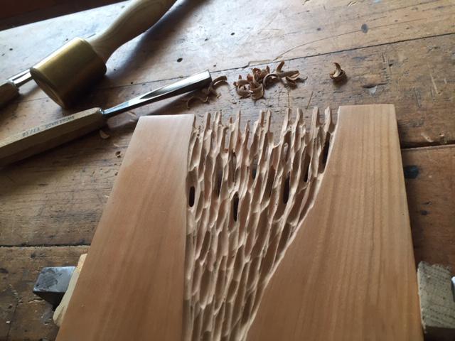 etabli sculpture bois